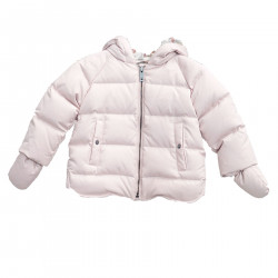 PINK DOWN JACKET WITH HOOD