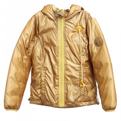 GOLD DOWN JACKET WITH HOOD