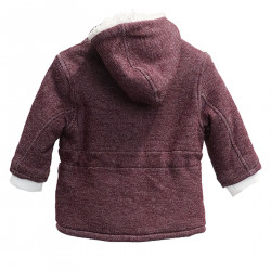 BORDEAUX COAT WITH HOOD