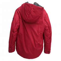 RED AND GRAY DOWN JACKET