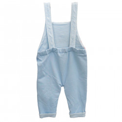 LIGHT BLUE OVERALL WITH PRINT