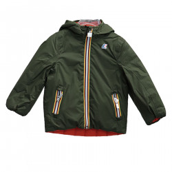 GREEN AND ORANGE DOWN JACKET