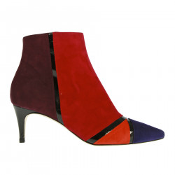 MULTICOLOR SUEDE ANKLE BOOT