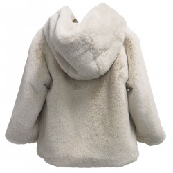 BEIGE COAT WITH HOOD