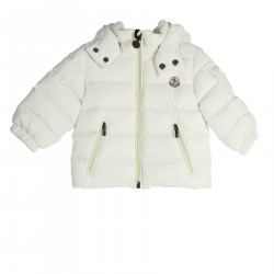 WHITE DOWN JACKET WITH HOOD