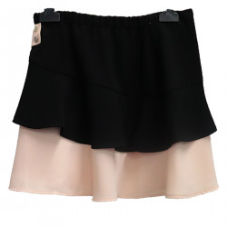 BLACK AND PINK SKIRT