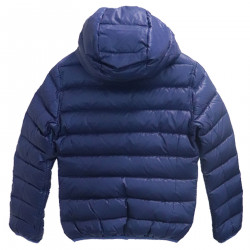 BLUE DOWN JACKET WITH HOODV