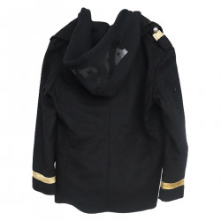 BLACK JACKET WITH HOOD