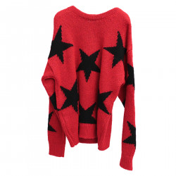 RED SWEATER WITH STARS