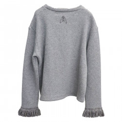 LONG SLEEVE GRAY SWEATSHIRT