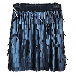 BLUE SKIRT WITH SEQUINS