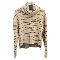 BEIGE ANIMALIER SWEATER