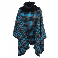 WOOL AND CASHMERE CHECKED PONCHO