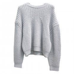 GRAY SWEATER WITH LUREX