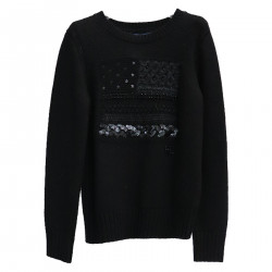 BLACK SWEATER WITH SEQUINS