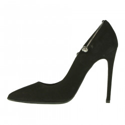 BLACK SUEDE DECOLLETE