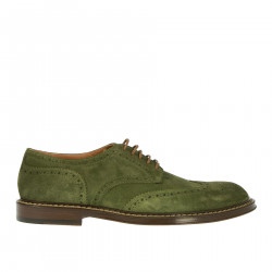 GREEN WINGTIP LACE UP SHOE