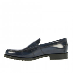 BLUE LEATHER LOAFER