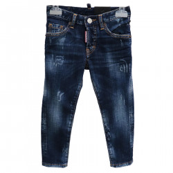 SLAVED BLUE JEANS TROUSERS