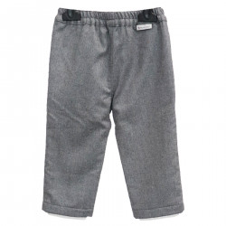 GREY WOOL PANTS