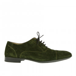 GREEN SUEDE LACE UP SHOE