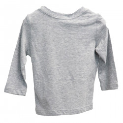 GRAY SHIRT WITH WRITING
