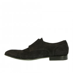 BLUE SUEDE MONK SHOE