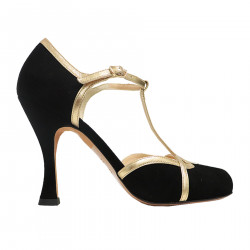 GENA BLACK AND GOLD DECOLLETE