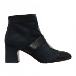 NICOLA BLUE AND BLACK ANKLE BOOT