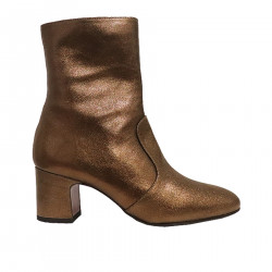 BRONZE LEATHER BOOT