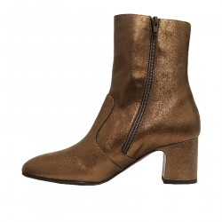 STIVALETTO BRONZO IN PELLE