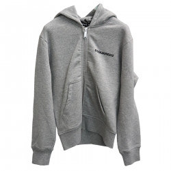 GRAY SWEATSHIRT WITH HOOD