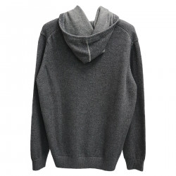GRAY CARDIGAN WITH HOOD