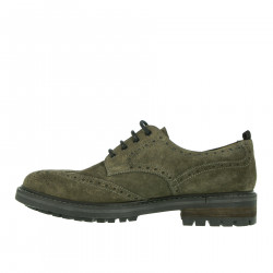 GREY WINGTIP LACE UP SHOE