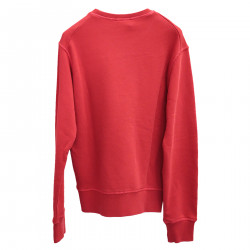 RED SWEATSHIRT WITH WRITINGS