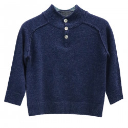 BLUE SWEATER WITH BUTTONS