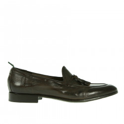 DARK BROWN LEATHER LOAFER