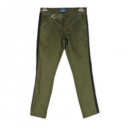 GREEN PANTS WITH BLUE BAND