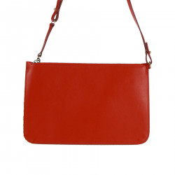RED LEATHER POCHETTE