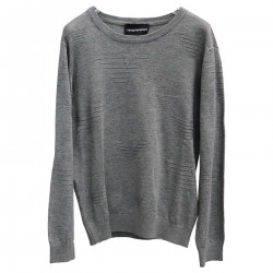 GRAY SWEATER WITH EMBLEM