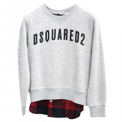 GRAY SWEATSHIRT WITH WRITING