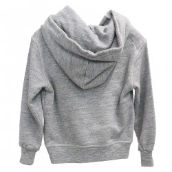GRAY SWEATSHIRT WITH WRITTEN AND HOOD