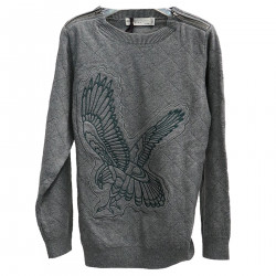 GRAY SWEATSHIRT WITH PRINT