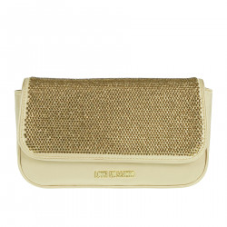 GOLD SHOULDER BAG WITH RHINESTONES