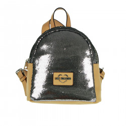 BACKPACK WITH SILVER SEQUINS