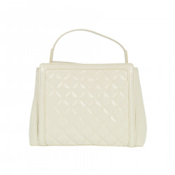 IVORY QUILTED HANDBAG