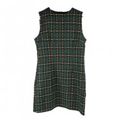 GREEN SLEEVELESS DRESS