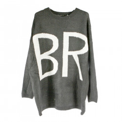 GREY OVERSIZE PULLOVER