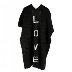 BLACK LOVE PONCHO