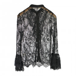 BLACK LACE SHIRT